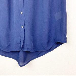 Joie Tops - Joie Finnegan Sleeveless Silk Button Down Blouse
